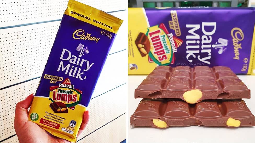 Cadbury releases new Pineapple Lumps chocolate blocks to rival Caramilk