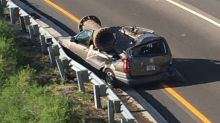 Man survives as car crushed by large piece of scrap metal in Florida