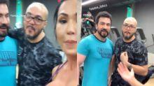 """Gracyanne Barbosa e Fábio de Melo na academia: """"Frango de Melo"""""""