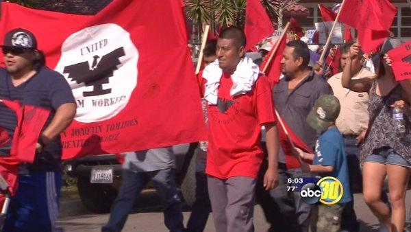 Fresno farm workers protest immigration laws