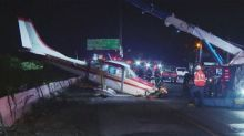 Small plane makes emergency landing on California interstate