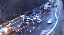 Icy roads leave 2 dead, dozens injured in hundreds of crashes from Pennsylvania to Connecticut