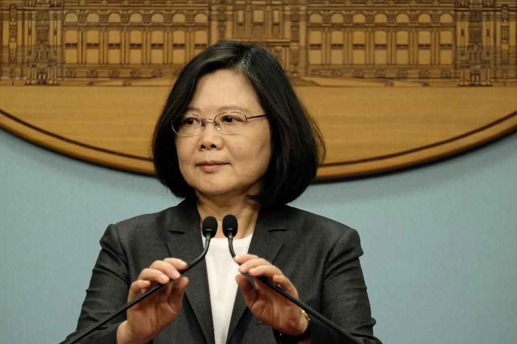It has been a turbulent first year in power for Taiwan's President Tsai Ing-wen as relations with Beijing have soured and her approval ratings have plummeted (AFP Photo/SAM YEH)