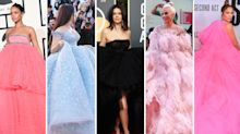 Supersized celebrity red carpet dresses