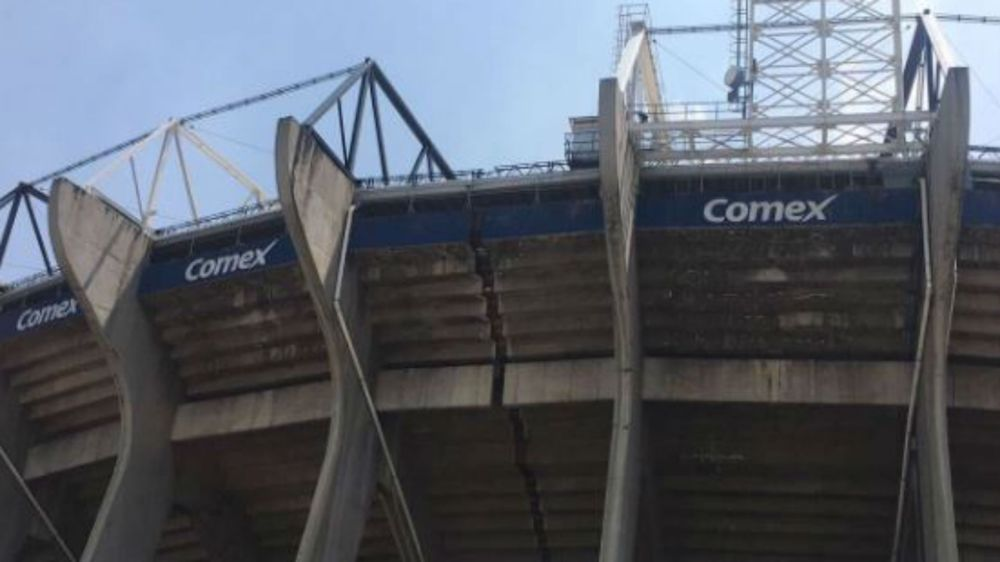 Así quedó el estadio Azteca tras el terremoto en México