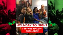 You only need 5 minutes to nail this holiday makeup look