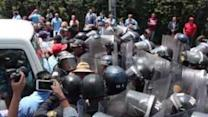 Police Clash With Mexican Mobile Advertisers' Protest