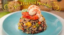 Salted Egg Fried Mixed Rice
