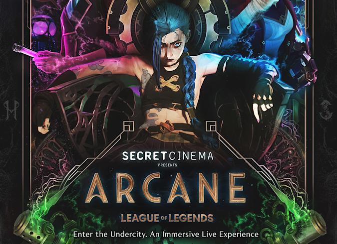 Key art for an immersive experience based on League of Legends animated series Arcane.