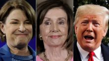 Amy Klobuchar Dings Donald Trump With Democratic Debate Quip About Nancy Pelosi