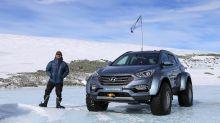Sir Ernest Shackleton's great-grandson crosses Antarctica in family car