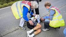 Rad-Weltmeister crasht ungebremst gegen ein Motorrad