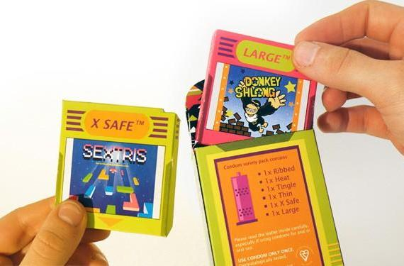 Game Boy condom concept helps you level up