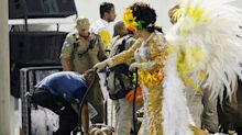 Float collapses at Rio de Janeiro's world famous Carnival parade, injuring at least 12 people