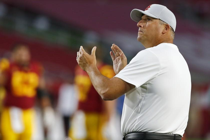 USC's Clay Helton remains hopeful about college football restarting this year