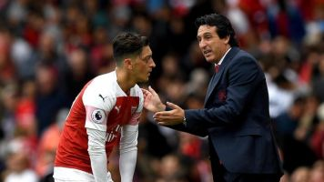 Unai Emery hints at building his Arsenal side around Mesut Ozil to revive German's ailing form