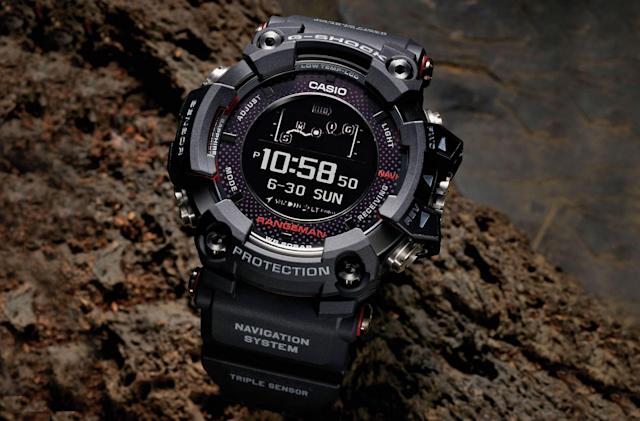 Casio's solar-powered GPS watch is ideal for survivalists