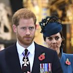 Why Did Prince Harry Get a Better Seat Than Kate Middleton at the Anzac Day Service?