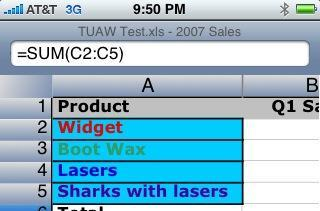 MarinerCalc for iPhone: A spreadsheet in the palm of your hand
