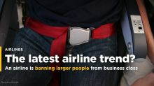 An airline is banning larger people from business class — and it's part of a trend sweeping the industry