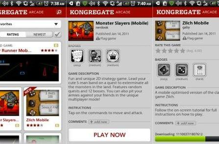 Kongregate Arcade removed from Android Market