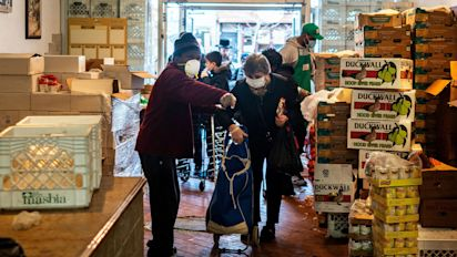 Cars line up for miles at food banks amid outbreak