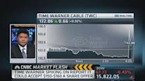 TWC shares spike on report of offer