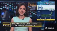 Baidu surges on earnings, revenue beat