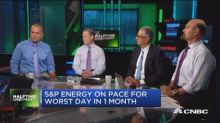 S&P Energy on pace for worst day in one month. Time to bu...