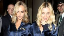 Margot Robbie and Cara Delevingne Rock Matching Track Suits to 'Suicide Squad' After-Party