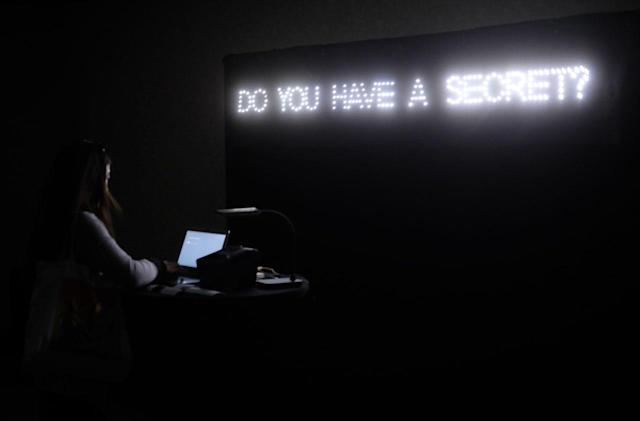 'The Future of Secrets' is a digital confession booth