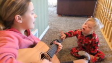 Toddler with Down syndrome learns words through music