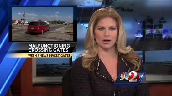 Central Florida railroad crossing arms failed dozens of times last year