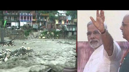Modi to visit to flood-affected U'khand, Shinde reached