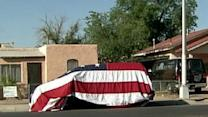 Flag Draped Over Van Creates Neighborhood Stir