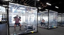 California gym tests out inventive social distancing measure: 'We are prepared'