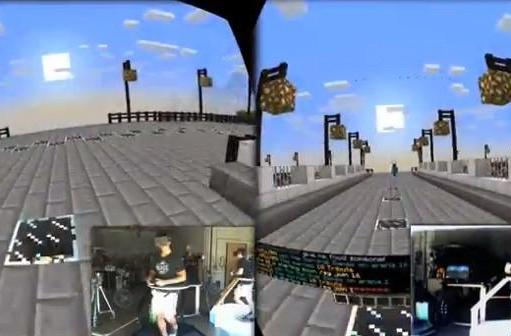 Virtuix Omni VR treadmill demoed with Minecraft in multiplayer mode (video)