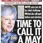 'Stay of execution': How the front pages reacted as Theresa May hangs on
