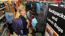 Mary Sagat, president of Staples Canada, visits the Staples location at 190 Bell Blvd. in Belleville, Ont., Aug. 15