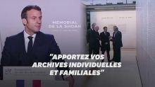 Macron appelle les Français à partager leurs archives de la Shoah
