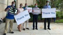 AdventHealth Daytona Beach honored in NASCAR hauler salute