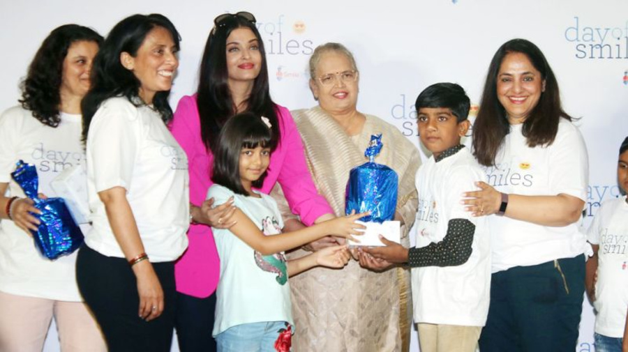 Image result for latest images of aishwarya rai bachchan celeberates her father bday with smile foundation trust