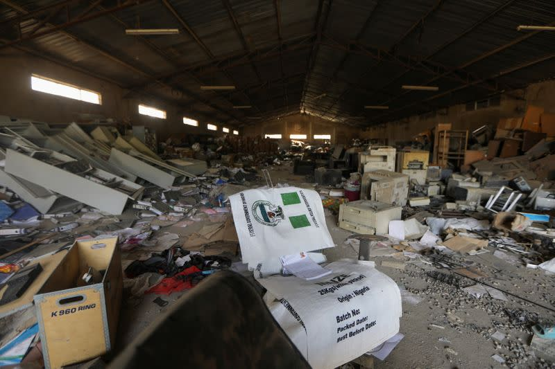 In Nigeria, looters target government warehouses stocked with COVID-19 relief