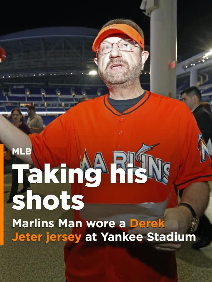 new style dd307 9a0bb Marlins Man shows up at Yankee Stadium wearing Derek Jeter jersey