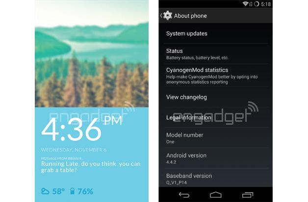 This is what the new CyanogenMod OS looks like on the OnePlus One