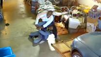 Man's Heartstopping Fight With Armed Suspect Caught on Tape