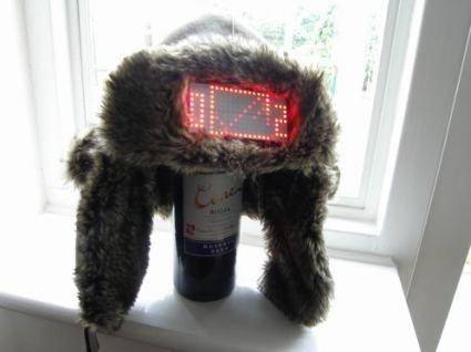 The LED Pong hat