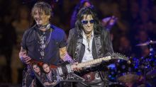 Alice Cooper says there's 'no drama' with bandmate Johnny Depp amid legal woes: 'He's one of my best buddies'