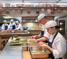 A royal reception feast for 600: langoustines, quail eggs and rhubarb tartlets