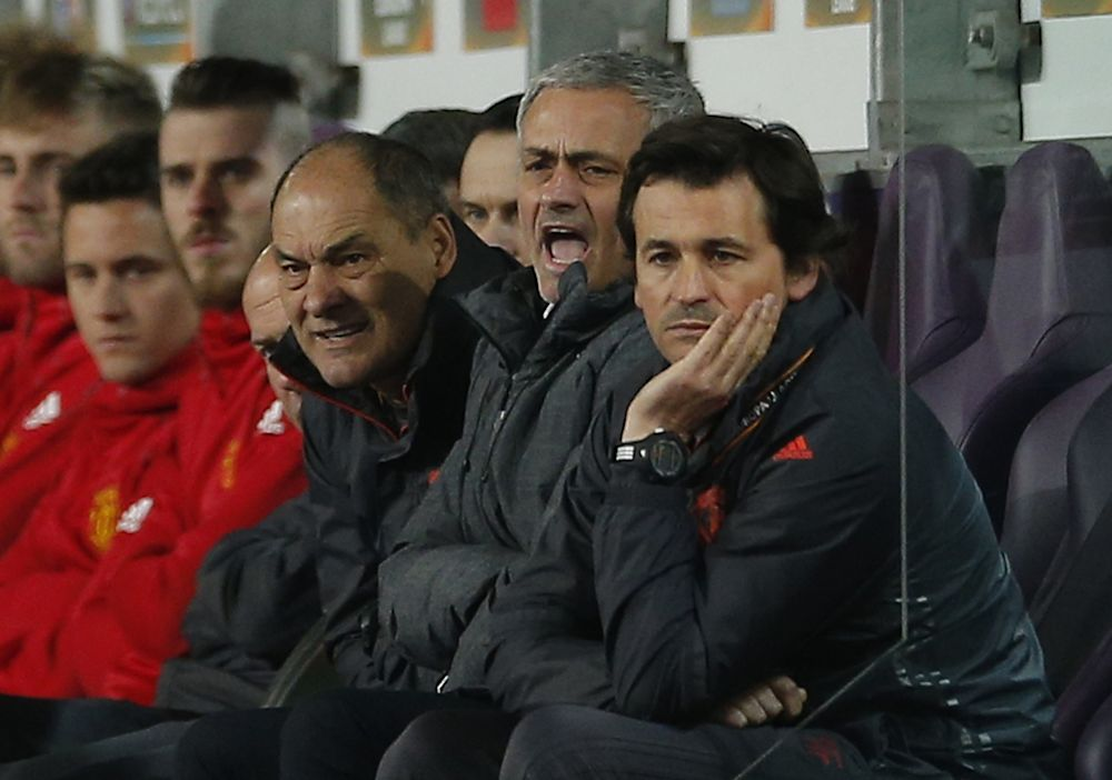 Jose Mourinho watches from the dugout